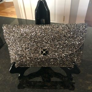 Kate Spade Large Flap Pouch Odette Glitter NWT
